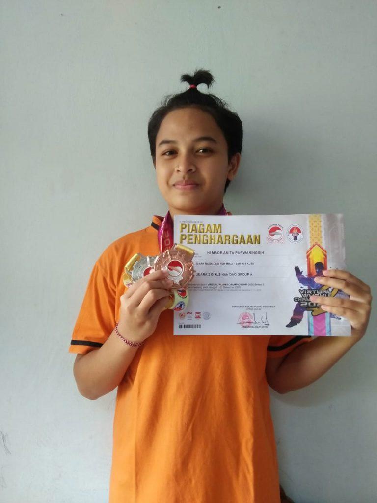 Anita Atlet Wushu Bali Sinar Naga